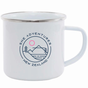 She Adventures New Zealand Enamel Mug